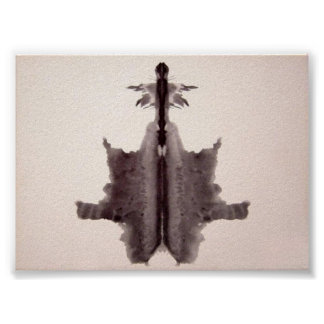 The Rorschach Test Ink Blots Plate 6 Posters