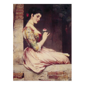 The Rose by Eugene de Blaas Postcard