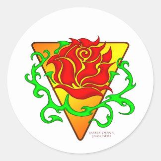 The Rose Classic Round Sticker