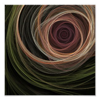The Rose Digital Abstract Fractal Art Poster