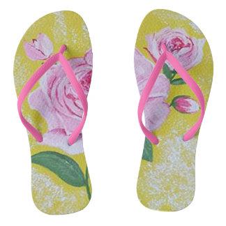 The Rose flip flops
