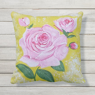 The  Rose Patio Pillow