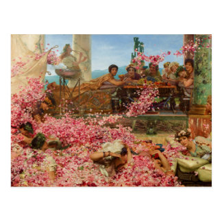 The Roses of Heliogabalus by Lawrence Alma-Tadema Postcard