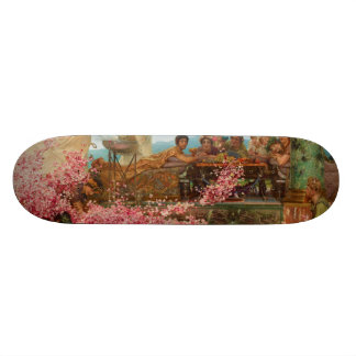 The Roses of Heliogabalus by Lawrence Alma-Tadema Skate Boards