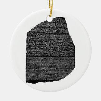 The Rosetta Stone Egyptian Granodiorite Stele Ceramic Ornament
