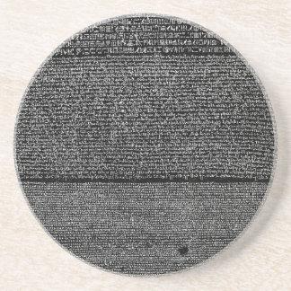 The Rosetta Stone Egyptian Granodiorite Stele Drink Coaster