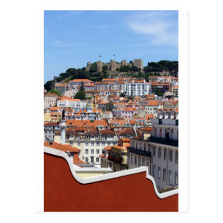 The Rossio and the Hill of the Castle, Lisbon, Postcard