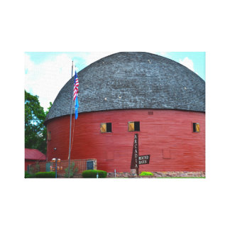 The Round Barn of Arcadia Canvas Print