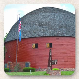 The Round Barn of Arcadia Drink Coaster