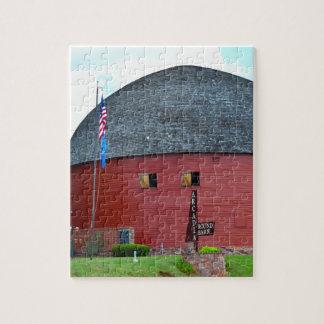 The Round Barn of Arcadia Jigsaw Puzzle