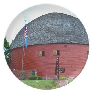 The Round Barn of Arcadia Party Plates