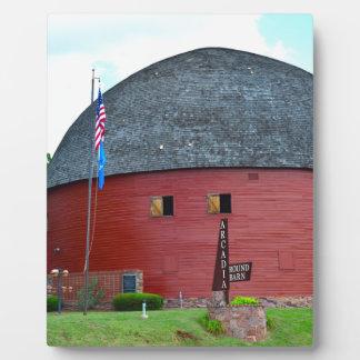 The Round Barn of Arcadia Plaque