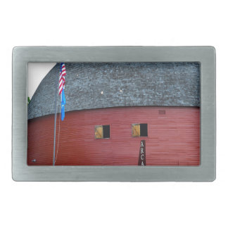 The Round Barn of Arcadia Rectangular Belt Buckles