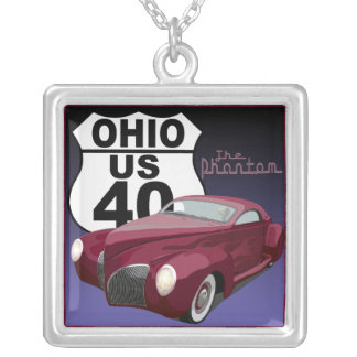 The Route 40 Phantom Silver Plated Necklace