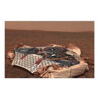 The rover's landing site photographic print