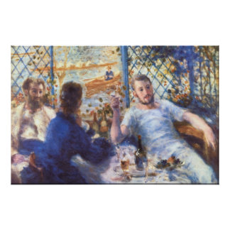 The Rowers Lunch by Pierre Renoir Poster