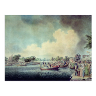 The Rowing Match at Richmond Postcard