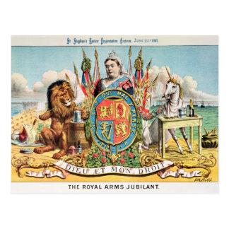 The Royal Arms Jubilant Postcard