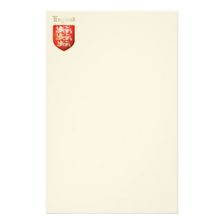 The Royal Arms of England Personalized Stationery