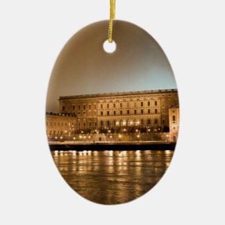 The Royal Castle, Stockholm Sweden Ceramic Oval Ornament