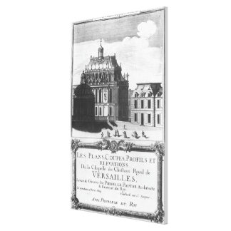 The Royal Chapel, illustration from 'Les Plans Canvas Print