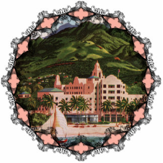 The Royal Hawaiian Hotel Ornament Photo Sculpture Ornament