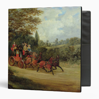 The Royal Mail Coach with Passengers (oil on canva Binder