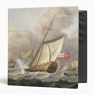 The Royal Yacht 'Mary' Exchanging Salutes Vinyl Binder