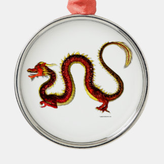The Ruby Dragon Metal Ornament