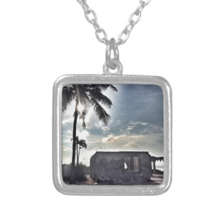 The Ruins in Bantayan Island Silver Plated Necklace