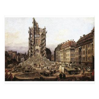 The Ruins of the old Kreuzkirche, Dresden by Berna Postcard