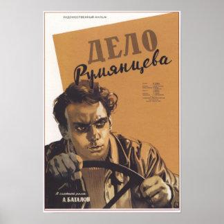 """The Rumyantsev Case"" USSR Soviet Movie 1956 Poster"