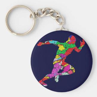 The Runner Basic Round Button Keychain