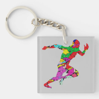 The Runner Double-Sided Square Acrylic Keychain