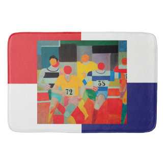 The Runners by Robert Delaunay Bath Mat