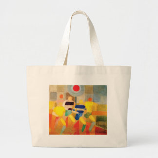 The Runners by Robert Delaunay Large Tote Bag