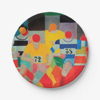 The Runners by Robert Delaunay Paper Plate