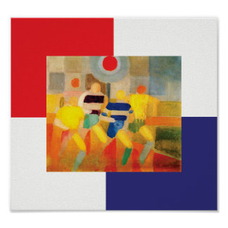 The Runners by Robert Delaunay Poster