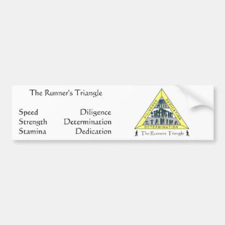 The RUNNER'S TRIANGLE Bumper Sticker