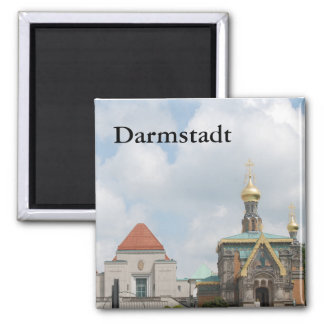 The Russian Chapel Square Magnet