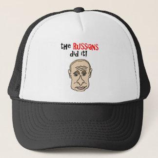 The Russians did it Putin Cartoon Trucker Hat