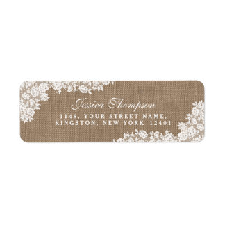 The Rustic Burlap & Vintage White Lace Collection