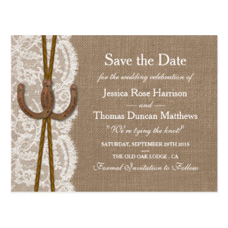 The Rustic Horseshoe Collection Save The Date Postcard