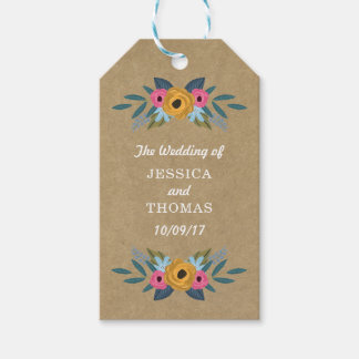 The Rustic Kraft Floral Wreath Wedding Collection Gift Tags