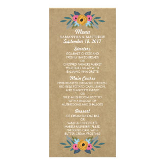 The Rustic Kraft Floral Wreath Wedding Collection Rack Card