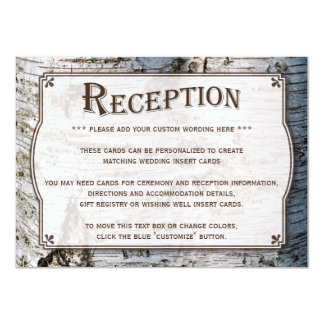 "The Rustic Silver Birch Tree Wedding Collection 4.5"" X 6.25"" Invitation Card"