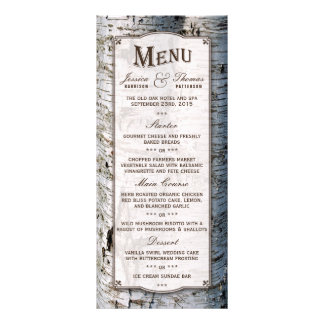 The Rustic Silver Birch Tree Wedding Collection Full Colour Rack Card