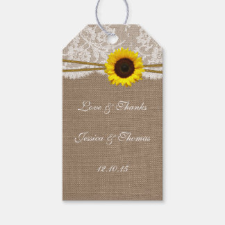 The Rustic Sunflower Collection Tags Pack Of Gift Tags