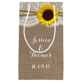 The Rustic Sunflower Wedding Collection Small Gift Bag