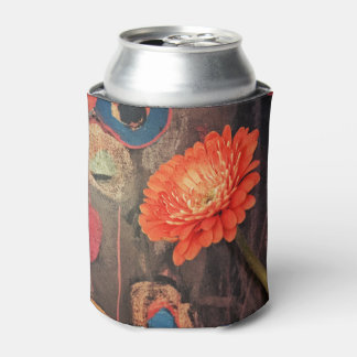 The Rustic Zinnia Can Cooler
